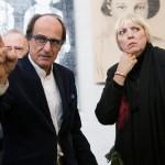 Manfred Bockelmann und Claudia Roth, Ausstellung »Zeichnen gegen das Vergessen«