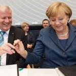 Unterzeichnung des Koalitionsvertrags, Dr. Angela Merkel, Horst Seehofer