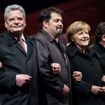 Charlie Hebdo Kundgebung 2015, Joachim Gauck, Angela Merkel